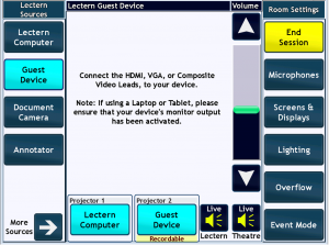 Integrated Control System Control UI
